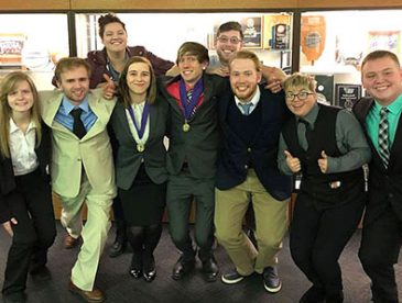 Highland Community College Forensics team in Chicago Heights