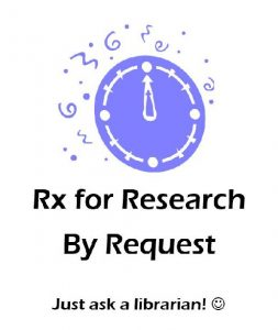 Rx for Research sessions are available by request this week.