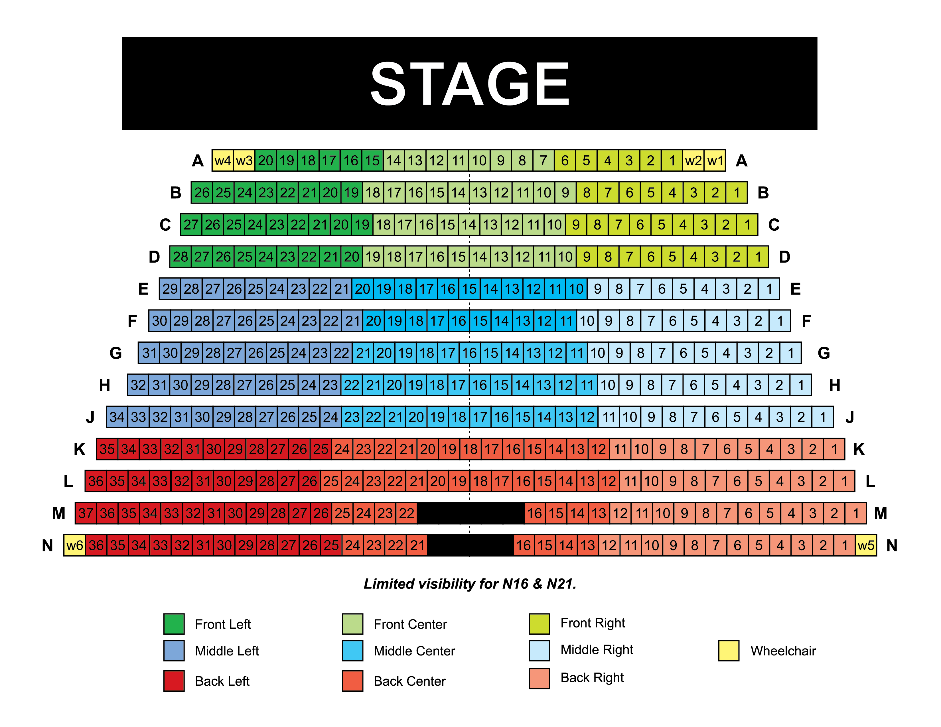Seating Chart Highland Community College
