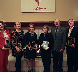 Photo of Pennie Groezinger, Dr. Heather Shick, Christine Lambert, Sherry and Allen Flack, Dr. Mike Schiffman
