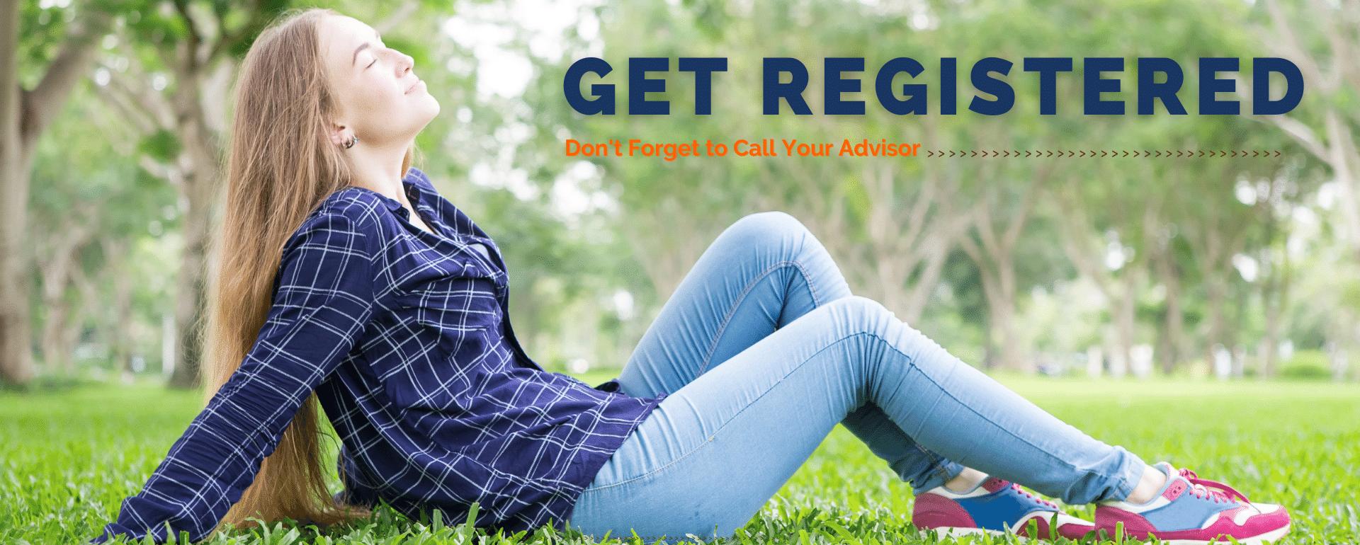 Get registered for fall